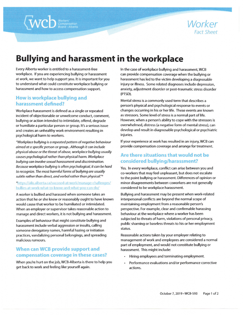 #4 WCB Worker Bullying and Harassment-01