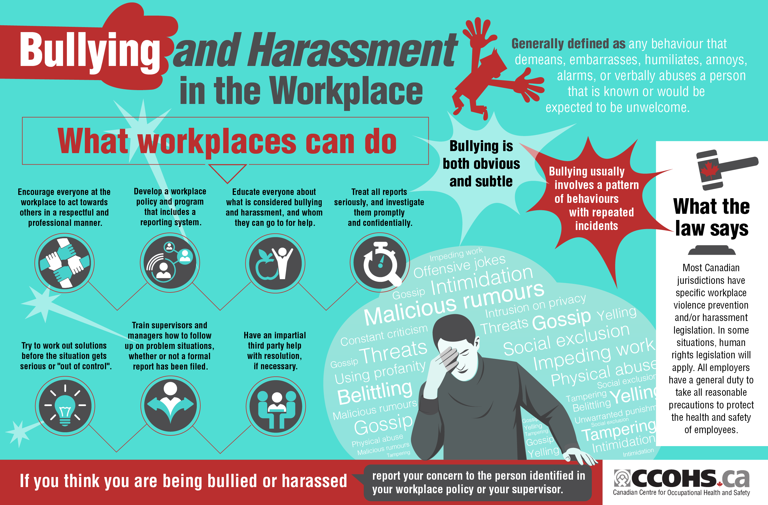 bullying and harassment in the work place